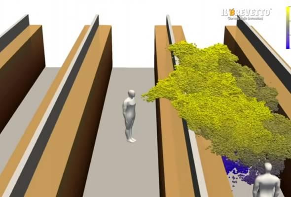 COVID-19: Model 3D papar bagaimana virus tersebar dalam ruang tertutup